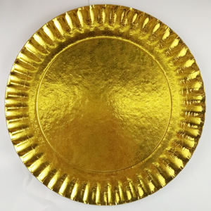 OEM Wholesale Party Paper Plate Set, Disposable Gold Paper Plate
