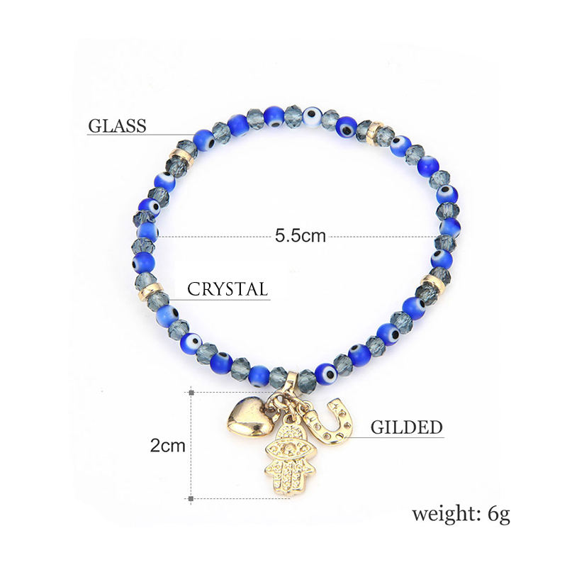 Crystal Beaded Evil Eye Bracelet BT5-2715-3250