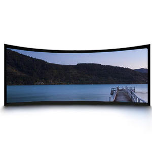 Hot Selling 4K 2.35:1 Curved Fixed Frame Projector Screen for Home Theater