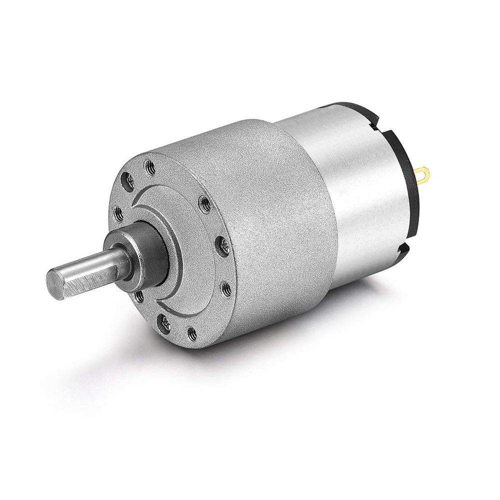 China Supplier DC Spur Gear Motor 37MM Miniature Gear Box Electric Motor 12V DC 14RPM High Torque Reversible for BBQ Robot Parts