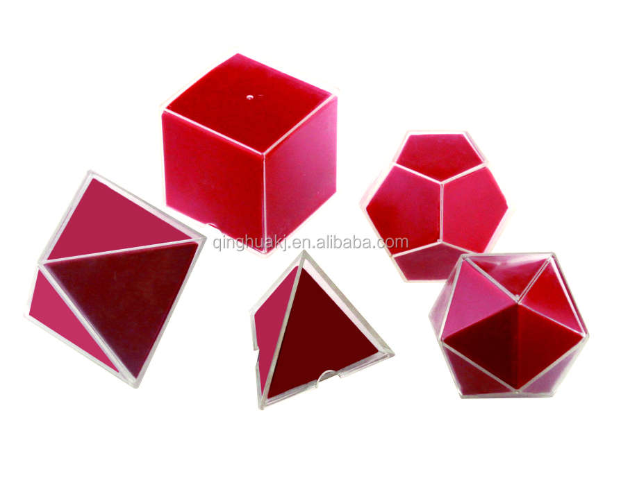Plastic Geometrical feature in outspread 5pcs for school children counting tool