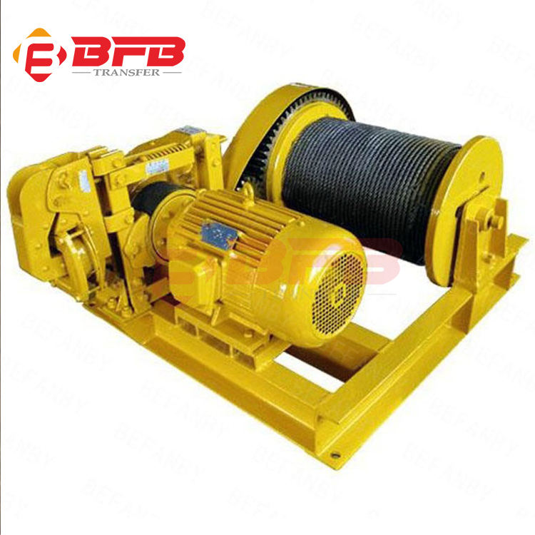 Custom double drum towing electric winch machine 3ton manufacturer