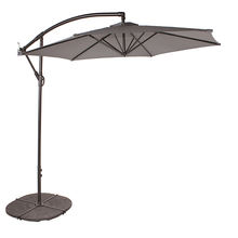 10feet Hanging Umbrella Patio Sun Shade Offset Outdoor Market With Cross Base