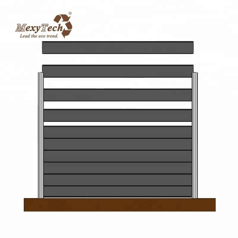 outdoor using wooden plastic wpc fence panels composite fencing