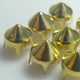 Factory sale brass claw studs, iron on metal cone spike studs with prong