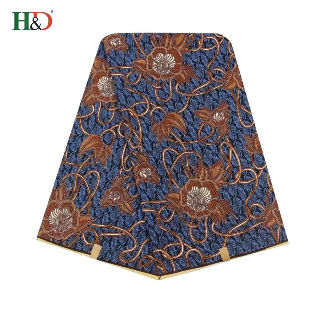 H & D Moda Stil Toptan İyi Kalite Hollandalı Baskı Afrika George Ankara Balmumu Baskı Kumaş