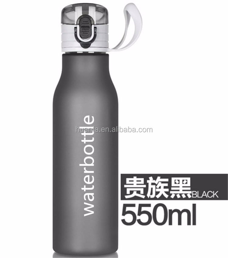 Bulk items of 19oz BPA free frosted private label plastic water bottle/thermos sports bottle with Superior impact resistance