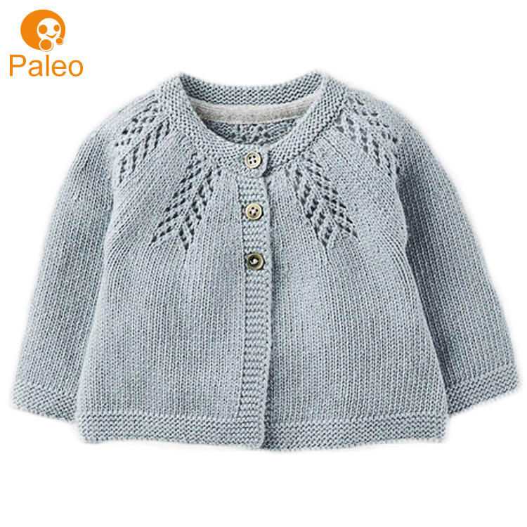 Direct Factory Custom Winter Cotton Knitted Cardigan Child Kids Baby Sweater for Boy Girl