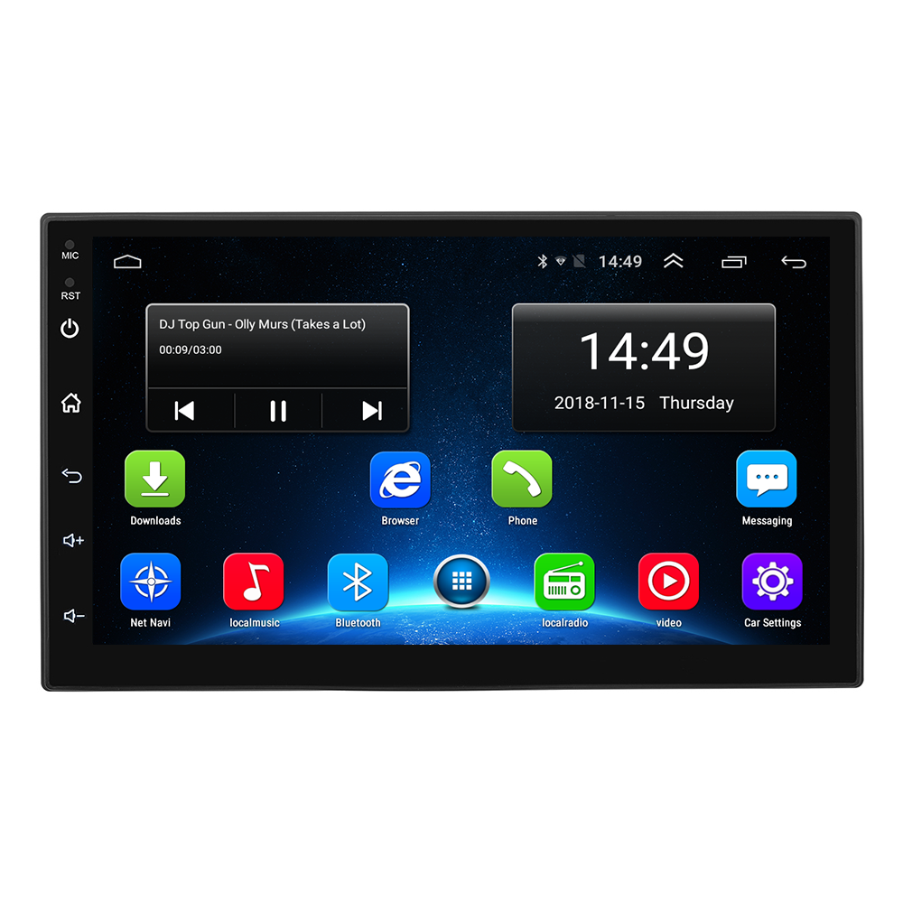Best Selling 1024*600 HD Touch Screen 7 Inch 4G Universal Android 8.1 Car Radio With GPS