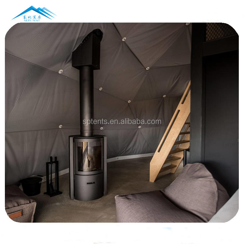 Best selling products 6-8 person with chimney stove winter tent glamping dome