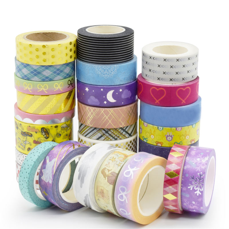 free sample factory Wholesale Masking Tape Washi Tape Gold Foil Planner Decorate Tape