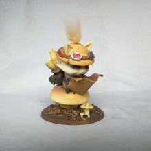 "4"" LOL Figure The Swift Scout -Cute Teemo Came Controller Resin Action Figure"