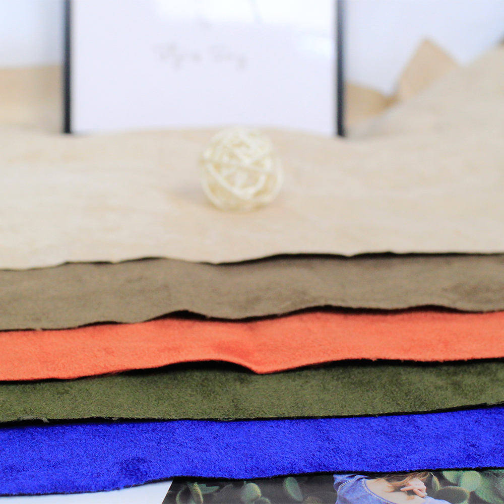 Thickened warp knitted suede fabric garment coat knit fabric manufacturer wholesale HT-PSUDF-B