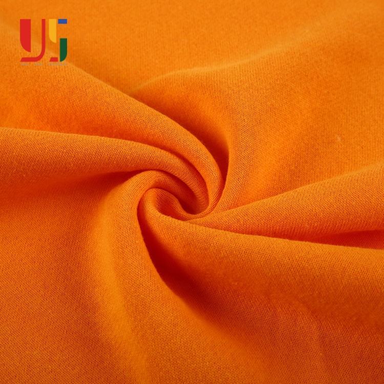 Orange polyester cotton brushed high quality french terry microfiber terry cloth fabric by the yard