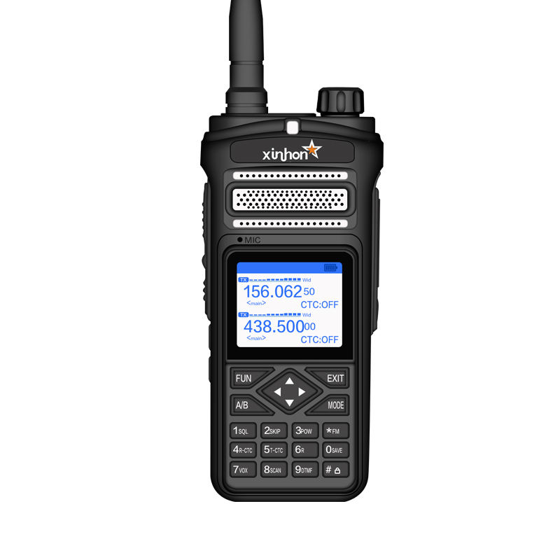 Guard Equipment Police Radio Long Distance Military Dual bands UHF and VHF Walkie Talkie 12W Two way Radio Waterproof XH-A91