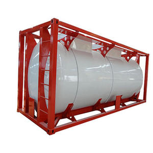 20ft Standard ISO Oil Storage Tank 40ft ISO Fuel Tanker Container made of carbon steel or stainless steel