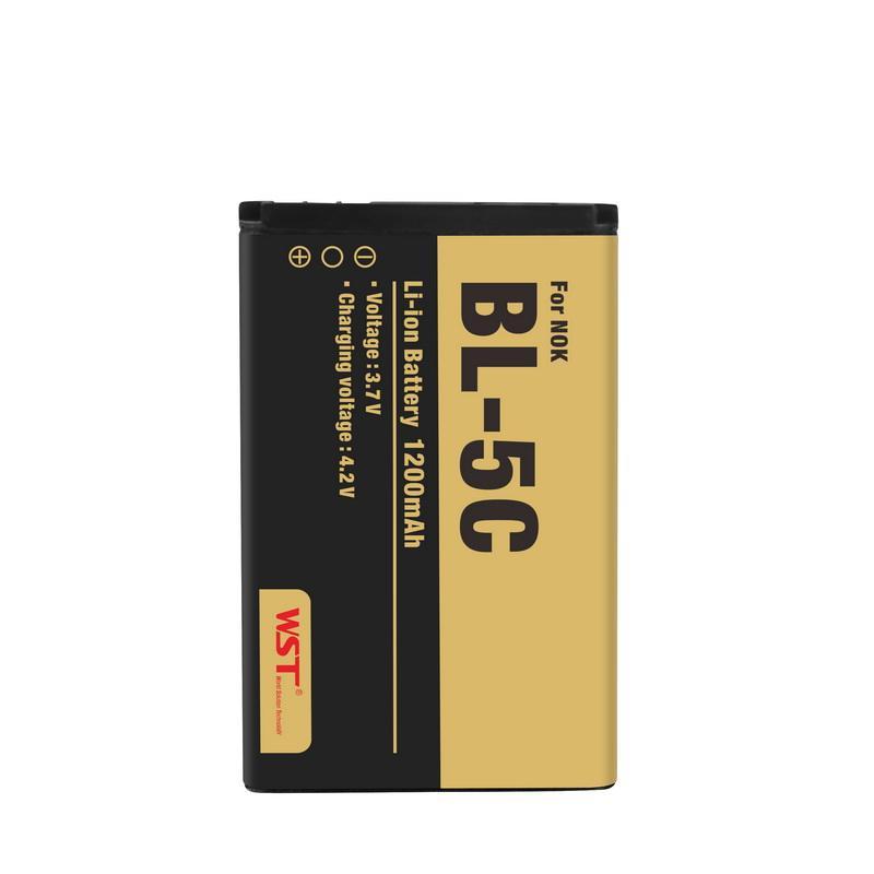 Marke neue 1200 mAh lithium-ionen kompatibel handys batterie für <span class=keywords><strong>nokia</strong></span> <span class=keywords><strong>bl</strong></span> <span class=keywords><strong>5c</strong></span> batterie