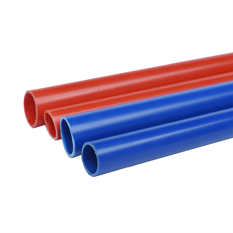 Factory wholesale wall electrical conduit cheap colored pvc pipe water system plastic pvc pipe