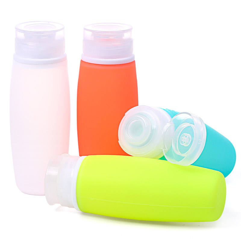 Wholesale 100Ml Small Portable Kean Silicone Cute Leak Proof TSA Approved Silicone Travel Bottle Set