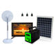 Home application multi solar power home lighting system with 19 inch TV for family watching