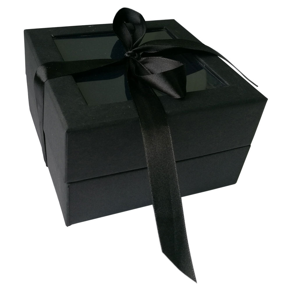 custom handmade deluxe gift box and paper packaging box with clear window for gift packaging