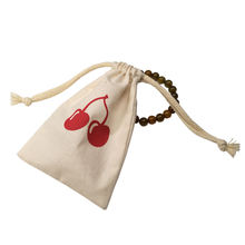 Custom Small Cotton Muslin Drawstring Bag Pouch With Logo