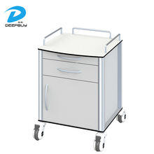 High Quality medical Hospital Bedside Cabinet With Drawer And Wheels