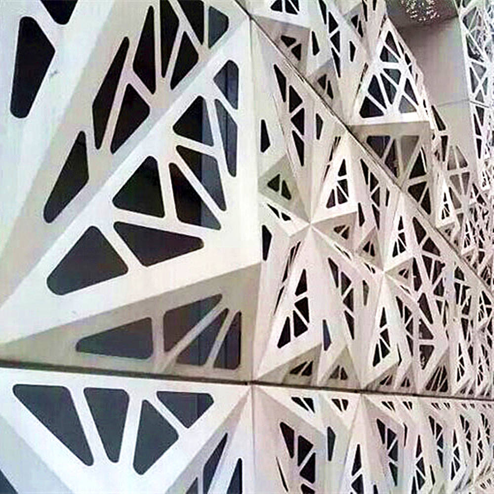 High Quality Aluminum 3D Exterior Wall Material Carved Cladding For Curtain Walls