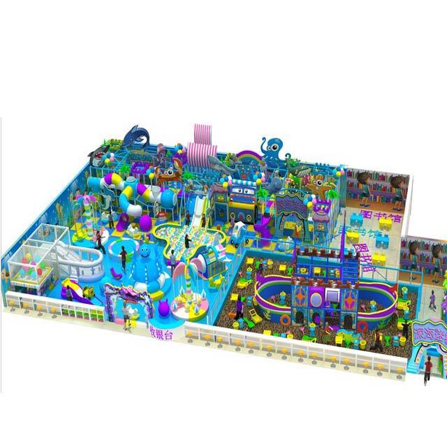 China Safe Crocheted Playground Kids Indoor Playground For Sale
