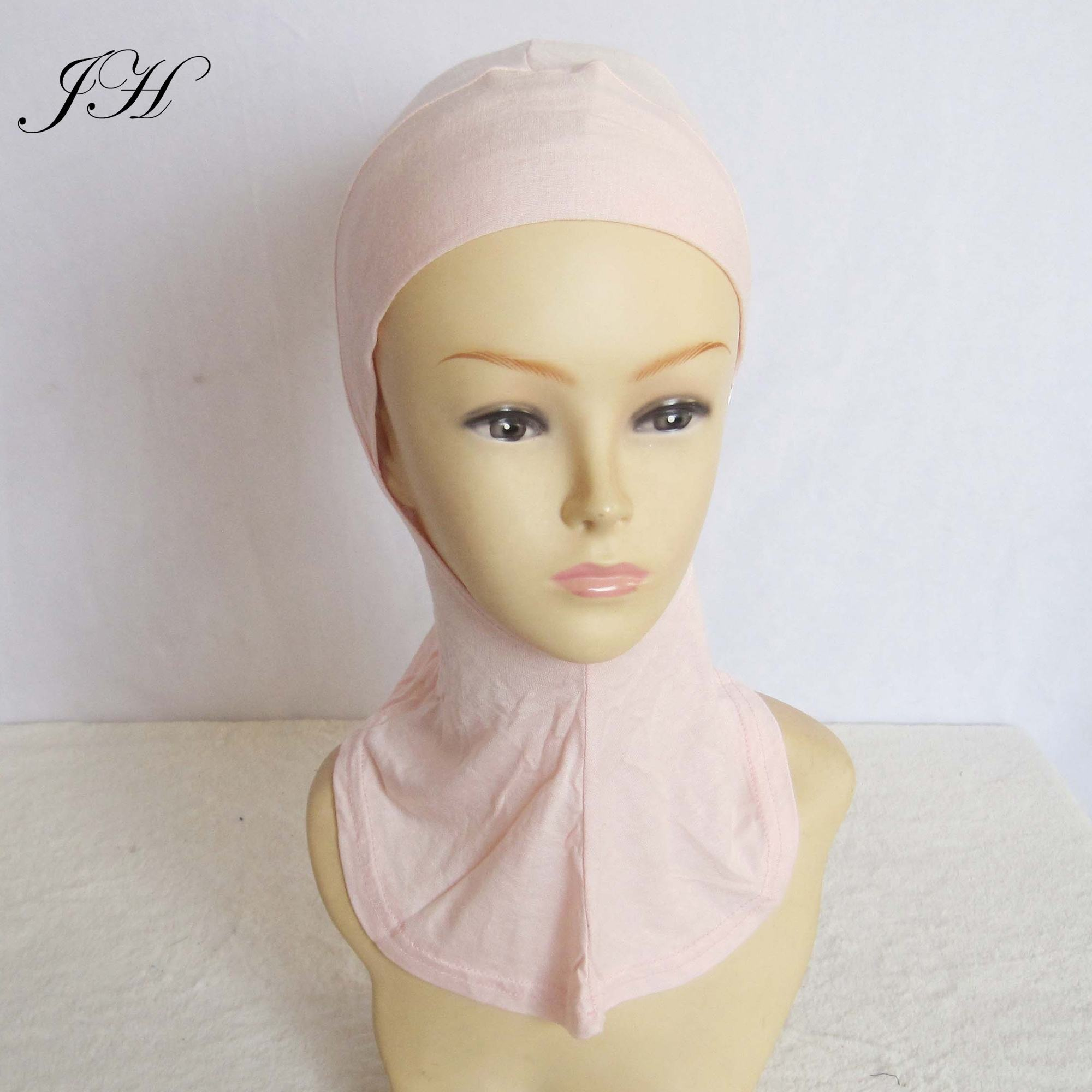 2019 Hot Selling Fashion Soft Plain Cotton Jersey Full Cover Ninja Hijab Under scarf Womens Bonnet Hats Islamic Inner Cap
