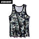 Custom boys mens quick dry printed camo sublimated running singlet