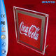 coca-cola single side clear edge A2 crystal indoor on wall led pocket