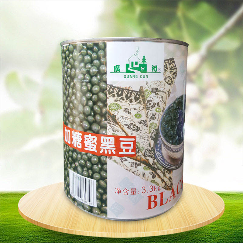 Canned Black Beans 3.3Kg Instant Canned Sweet Black Bean For Biscuit Dessert Ingredient