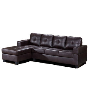 China Factory price living room Modern furniture Black Air leather or fabric sectional corner Chesterfield sofa