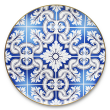 Royal gold rim blue and white porcelain ceramic plate wedding decoration