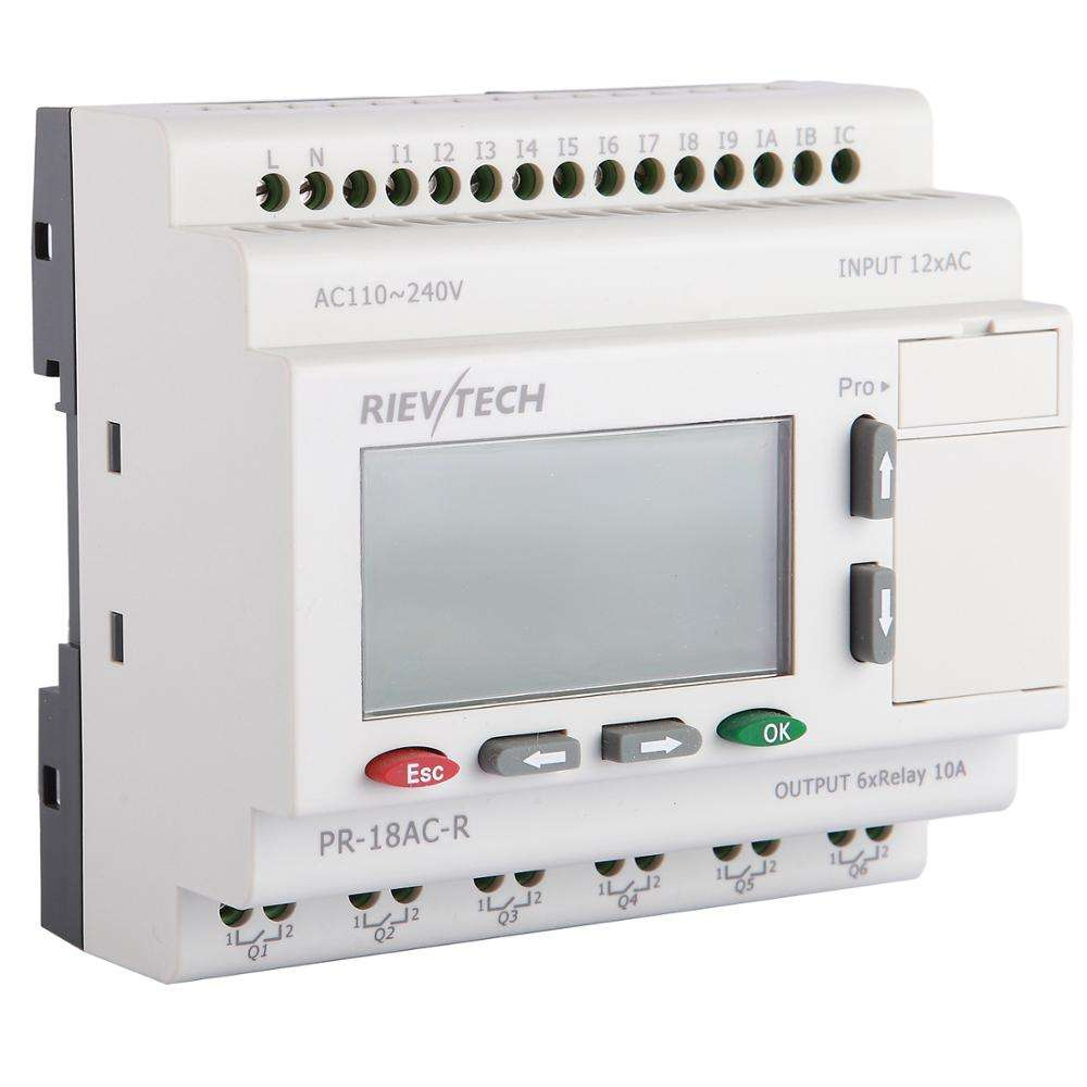 Factory price programmable logic controller for remote control PLC programmable relay PR-18AC-R