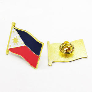 Wholesale Store Custom Made Philippines Flag Lapel Pin