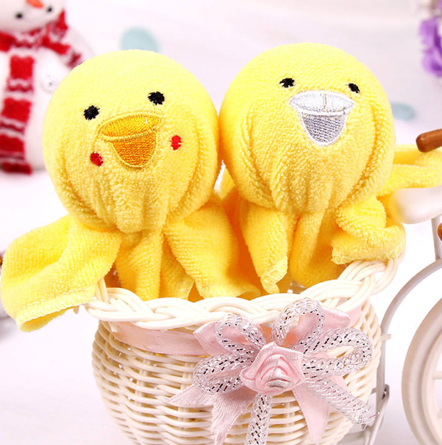 Wholesale animal cute animal cotton cake gift towel cake as wedding souvenirs from china supplier