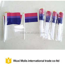 cheap small Gay Pride Bisexual hand flag