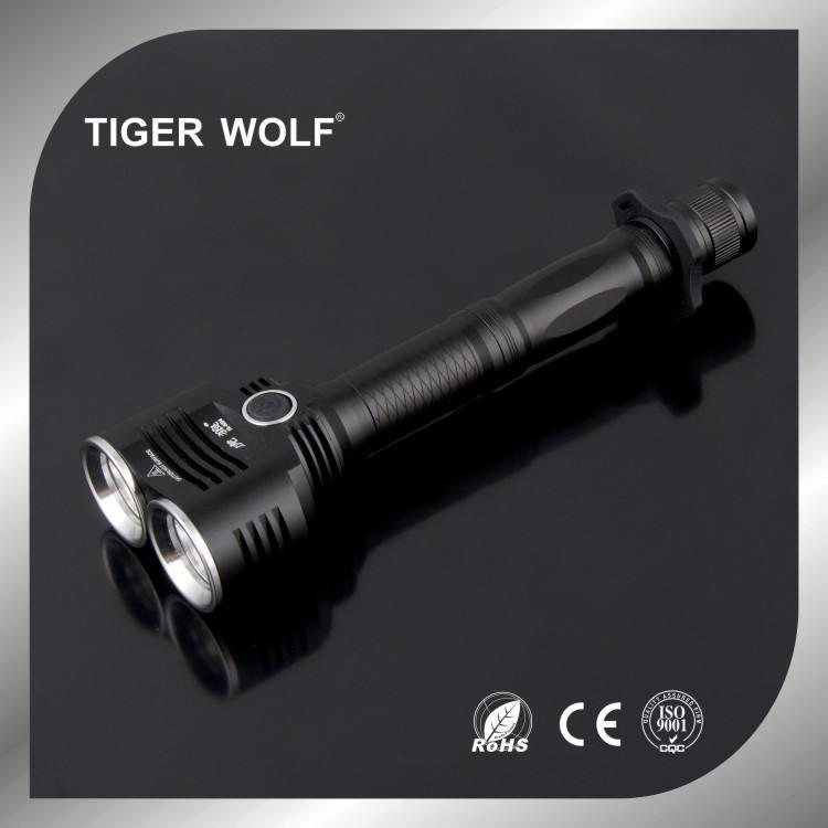 Linterna de alta potencia, Focus 2 * Bombilla T6 linterna táctica led, antorcha de la policía, led de luz de <span class=keywords><strong>flash</strong></span> HL-6204A