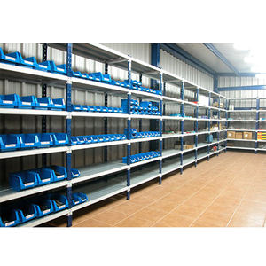 Steel Q235 Longspan Shelving with Plastic Bins