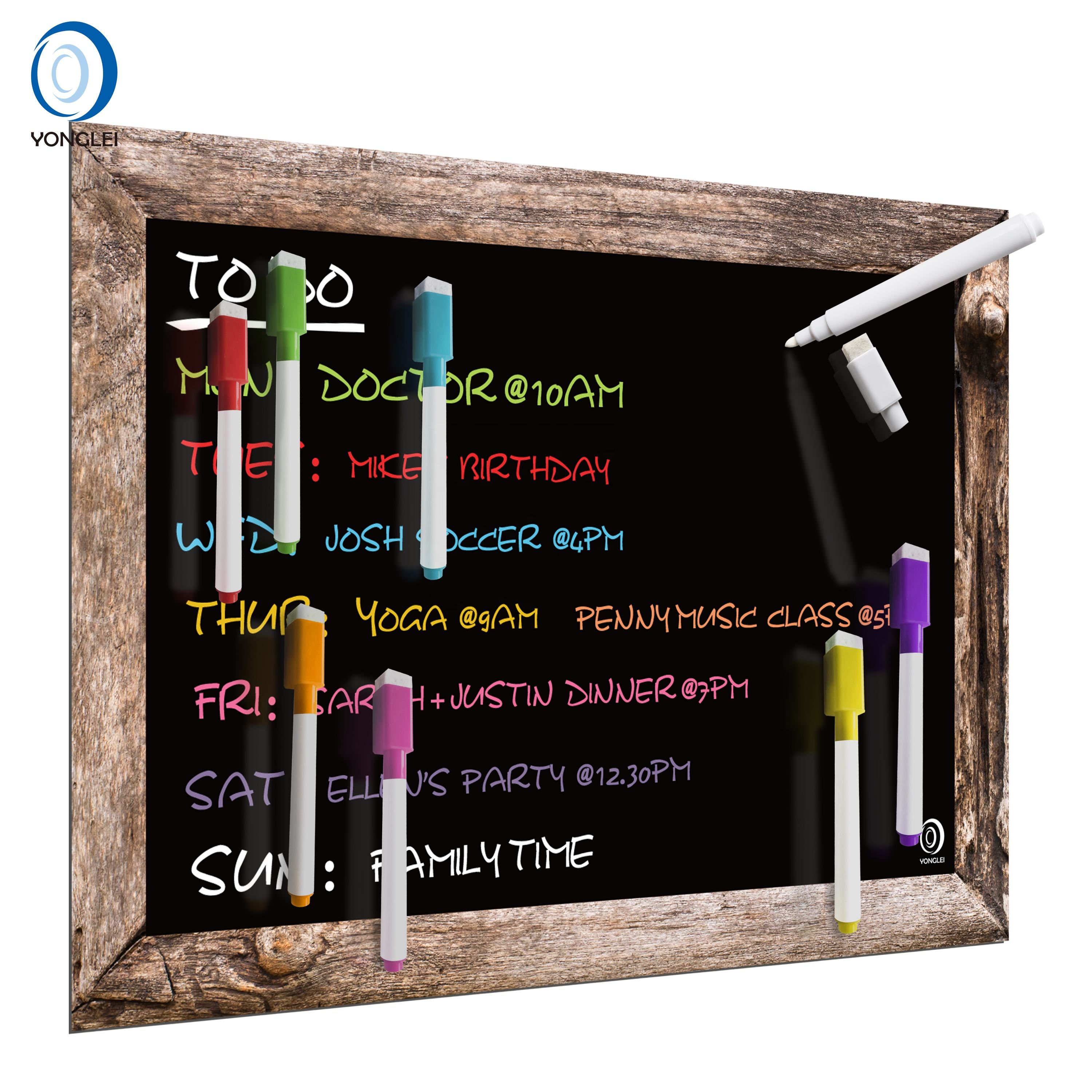 6.2-2A2 Magnetic chalk board magnetic black board chalkboard set for fridge
