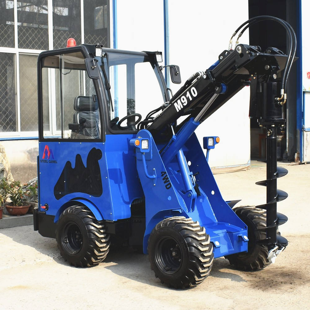 compact mini articulated 4x4 front end telescopic wheel loader with Bobcat skid loader attachments plate