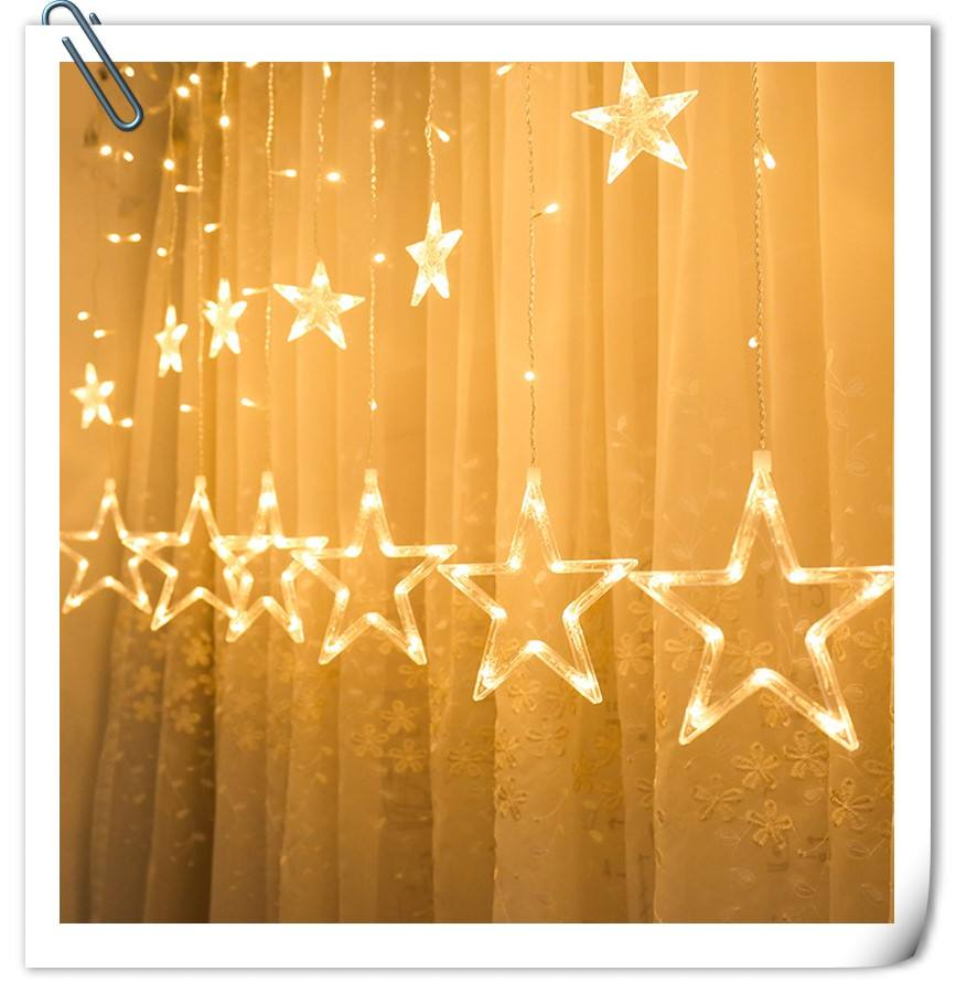 12 stars 138 led curtain string lights factory outlets led big star curtain christmas light wholesale