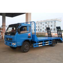Dongfeng 6 tons flatbed transport truck for delivery excavator or other mechanism