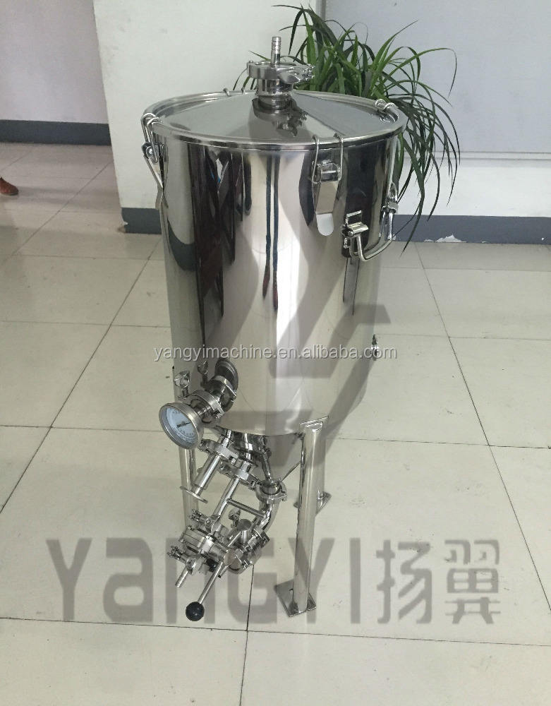 50L 100L Stainless steel conical fermenter with cooling coil for beer brewing equipment