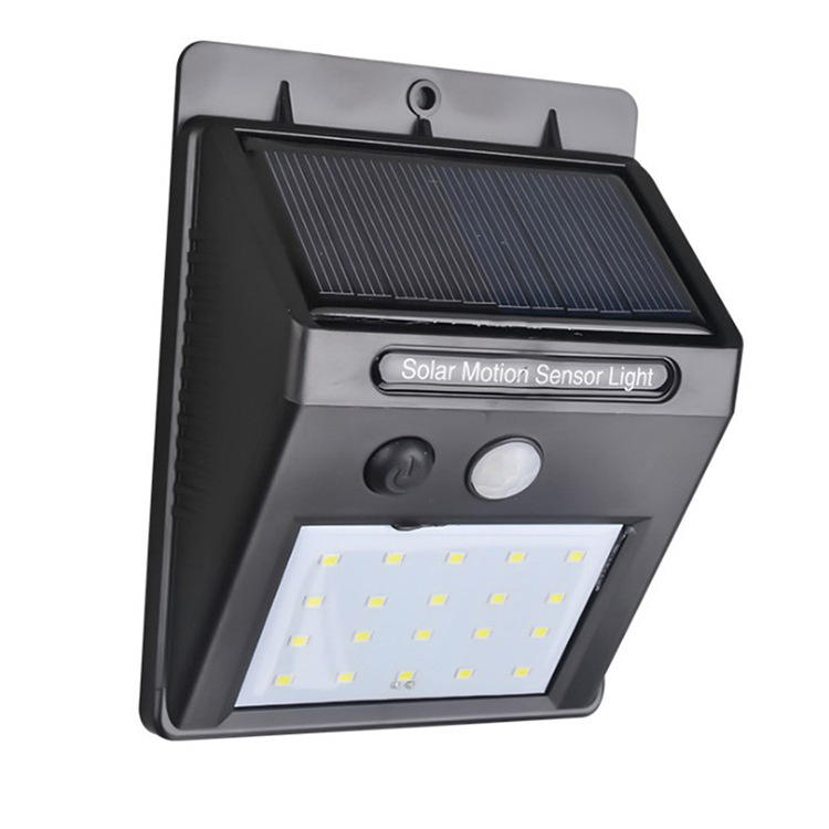 Solar Powered 20 LED Waterproof Energy Saving PIR Motion Sensor Wall Light