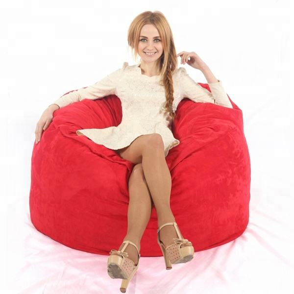 VISI 4FT Foambag Large Bean Bag Luxury Soft Material Foam Beanbag Chair For Adults Lazy Bag COVER Living Room Sofas Chair Lounge