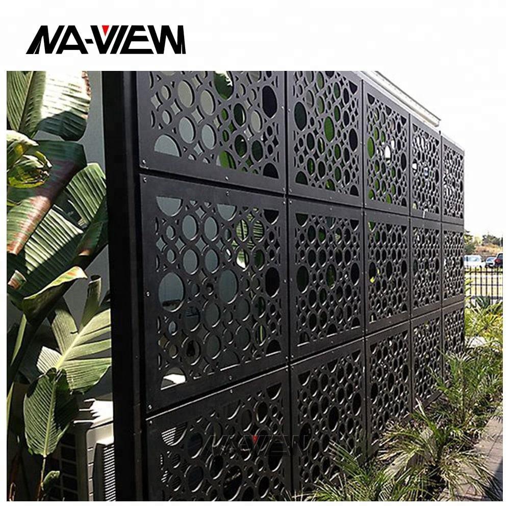 perforated metal screen panels aluminum facade panels
