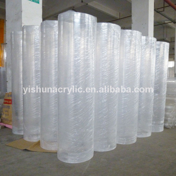 guangzhou factory custom 500mm large diameter clear /transparent extruded pmma acrylic tube/pipe